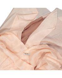 Mini robe en soie Miu Miu en coloris Pink