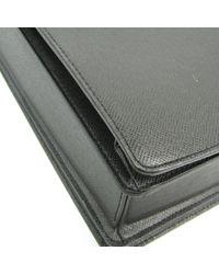 Bolsos en cuero negro Louis Vuitton de hombre de color Black