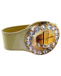 Miu Miu Yellow Leather Bracelets