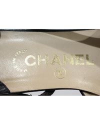 Chanel Black Slingback Leder Pumps