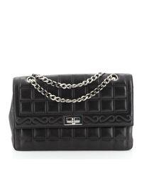 Chanel Black Mademoiselle Leder Handtaschen