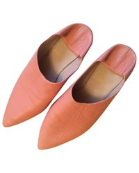 Acne Pink Pre-owned Leather Mules