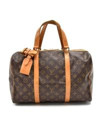Louis Vuitton Brown Sac Souple Leinen Handtaschen