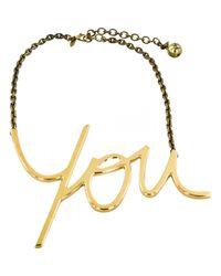 Collar en metal dorado \N Lanvin de color Metallic