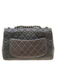 Chanel Gray Timeless/classique Leder Handtaschen