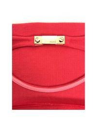 Emilio Pucci Red Wolle Midi Kleid