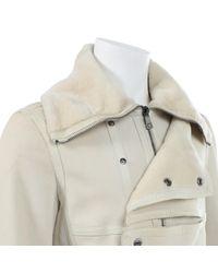 Versace Leder Blouson in Gray für Herren