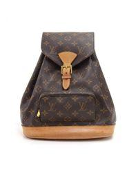 Louis Vuitton Brown Montsouris Cloth Backpack