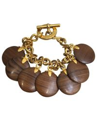 Céline | Pre-owned Brown Wood Bracelet | Lyst