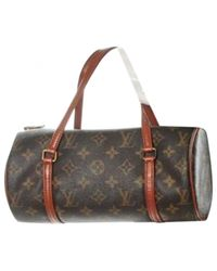 Louis Vuitton - Brown Pre-owned Papillon Cloth Travel Bag for Men - Lyst