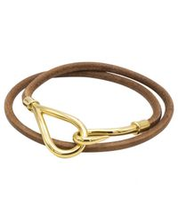 Hermès - Brown Pre-owned Jumbo Leather Bracelet - Lyst