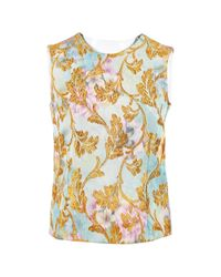 Marni Blue Synthetic Top