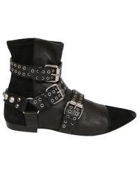 Isabel Marant Black Leather Boots