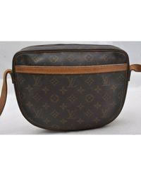 Louis Vuitton Brown Jeune Fille Leinen Handtaschen