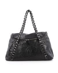 Chanel - Pre-owned Black Leather Handbag - Lyst