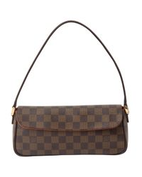 Louis Vuitton - Brown Pre-owned Leather Clutch Bag - Lyst