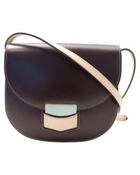 Céline Brown Pre-owned Trotteur Leather Crossbody Bag