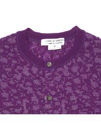 Comme des Garçons Vintage Purple Wool Knitwear