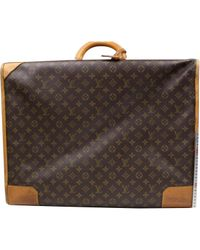 Lyst - Louis Vuitton Pre-owned Cloth Travel Bag in Brown for Men b0e9e80ab393c