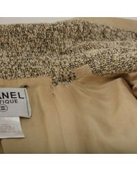Chanel Natural Wolle mäntel