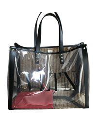 Bolsa de mano en plástico negro Tote VLTN Valentino de color Black
