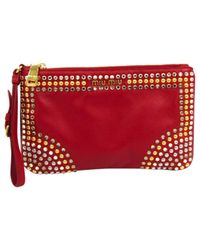Miu Miu Red Leder Clutches