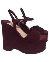 Miu Miu - Purple Pre-owned Sandals - Lyst