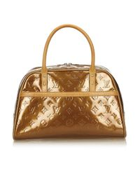 Louis Vuitton - Brown Pre-owned Patent Leather Handbag - Lyst