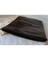 Bolsa de mano en cuero marrón Delvaux de color Brown