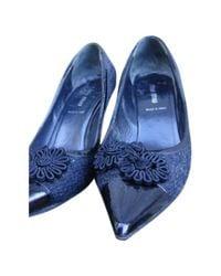 Miu Miu \n Black Leather Heels