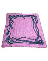 Sciarpa in lana rosa Châle Monogram di Louis Vuitton in Pink