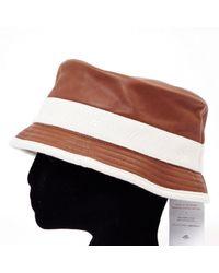 Hermès Brown Leather Hats