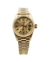 Rolex - Metallic Pre-owned Oyster Perpetual Yellow Gold Watch for Men - Lyst