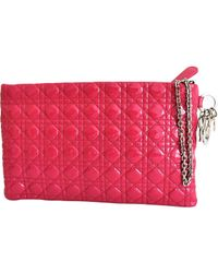 Dior - Pink Pre-owned Patent Leather Clutch Bag - Lyst