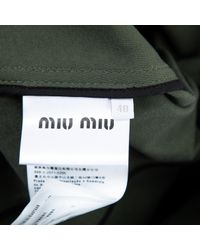 Miu Miu Multicolor Jacke Baumwolle Khaki