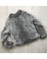 Helmut Lang Gray Grey Rabbit Jacket