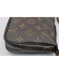Louis Vuitton Brown Pochette Accessoire Leinen Clutches