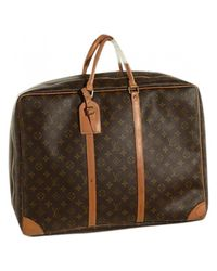 Louis Vuitton - Brown Pre-owned Travel Bag - Lyst