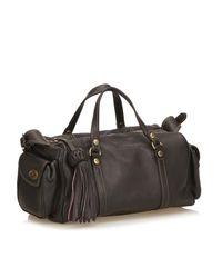 Mulberry Black Leather