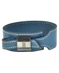 Hermès - Blue Pre-owned Artemis Leather Bracelet - Lyst