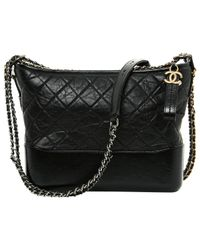 Chanel - Black Pre-owned Gabrielle Leather Handbag - Lyst