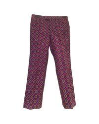 Miu Miu Red Wool Straight Pants