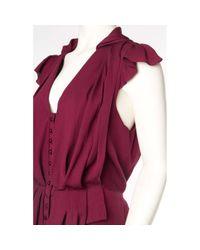 Vestido en seda Carolina Herrera de color Purple