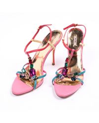 Miu Miu Pink \n Multicolour Leather Sandals