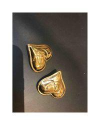 Pendientes en metal dorado \N Christian Lacroix de color Metallic