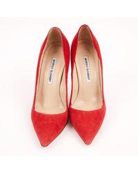 Manolo Blahnik Red Pre-owned Heels