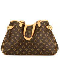 Louis Vuitton Brown Batignolles Leinen Handtaschen