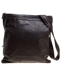 Borsa in pelle marrone di Fendi in Brown da Uomo