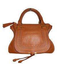 Chloé - Brown Marcie Leather Handbag - Lyst