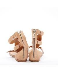 Sandalias en cuero beige \N Chloé de color Natural